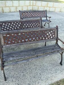 3 vintage solid garden benches (pick up in Parmelia) Beaconsfield Fremantle Area Preview