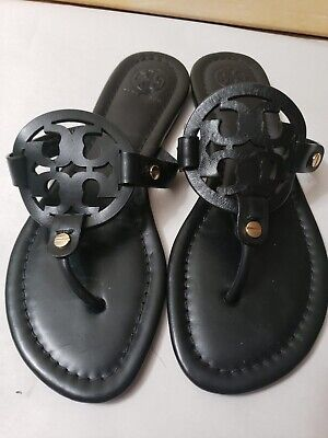 M-898- Tory Burch 'Miller' Flip Flop  Leather (Women) Sz 6 1/2 M