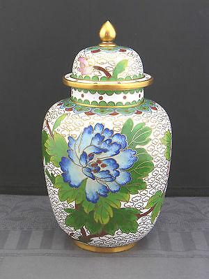 schöne alte Cloisonne Deckelvase China