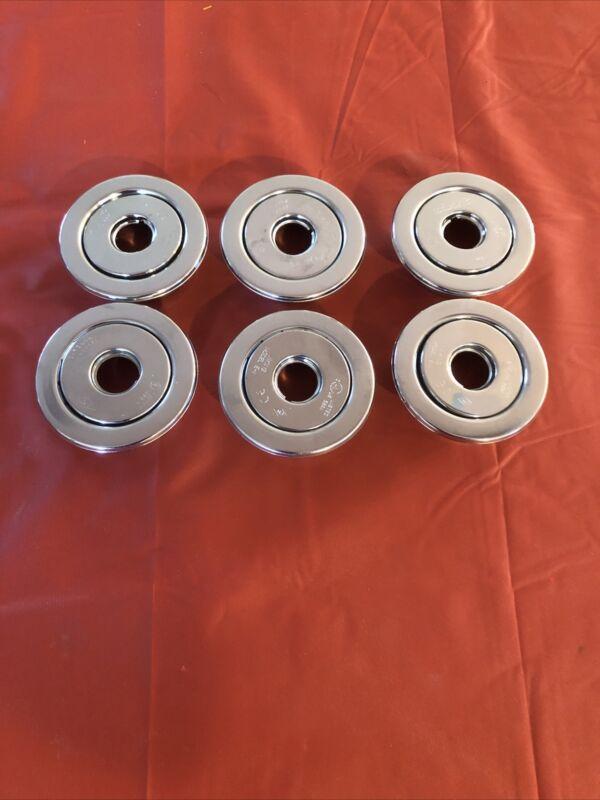 """Lot Of 6 Viking Fire Sprinkler Chrome 1/2"""" Escutcheons Model E-1 New Old Stock"""