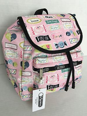 LESPORTSAC 9808 D703/Small Edie Backpack/Sweet Talk Pink/$84/NWT - Small Pink Sweets