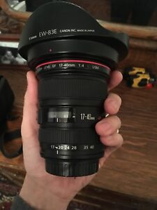 CANON EF 17-40mm f4 + filters LIKE NEW