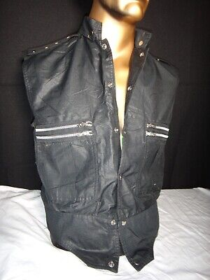 Vintage Clothing 80's, mens size small. zippers, Michael Jackson style, (80s Punk Style Clothing)
