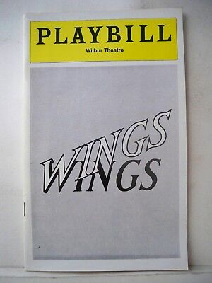 WINGS Playbill CONSTANCE CUMMINGS / MARY-JOAN NEGRO Tryout BOSTON 1978