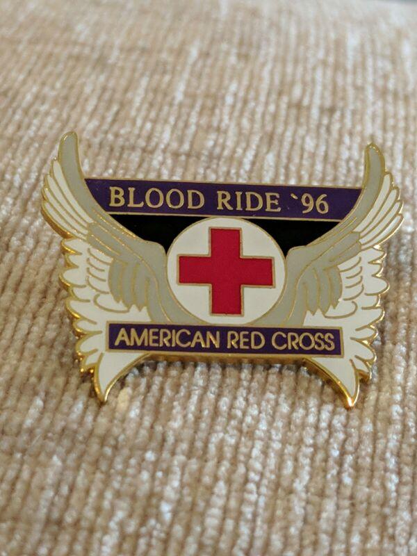 American Red Cross ARC Blood Ride 1996 Pin Bin 8/26