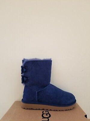 Ugg Australia Womens Short Brigette Bow  Boots  Size 5 NIB