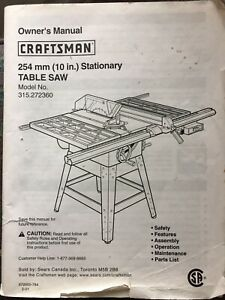 Sears Best Craftsman Table Saw