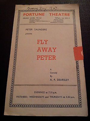 1947 Fortune Theatre programme: FLY AWAY PETER by A P Dearsley