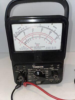 Vintage Simpson 260 Series 7 Analog Meter Volt Ohm Multimeter Works Great
