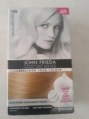 John Frieda Precision Foam Colour Hair Dye Number 10N Extra Light Natural Blonde