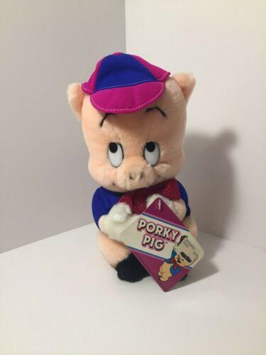 "Vintage 1987 Porky Pig Plush Stuffed Animal Warner Bros. by Mighty Star  9"""