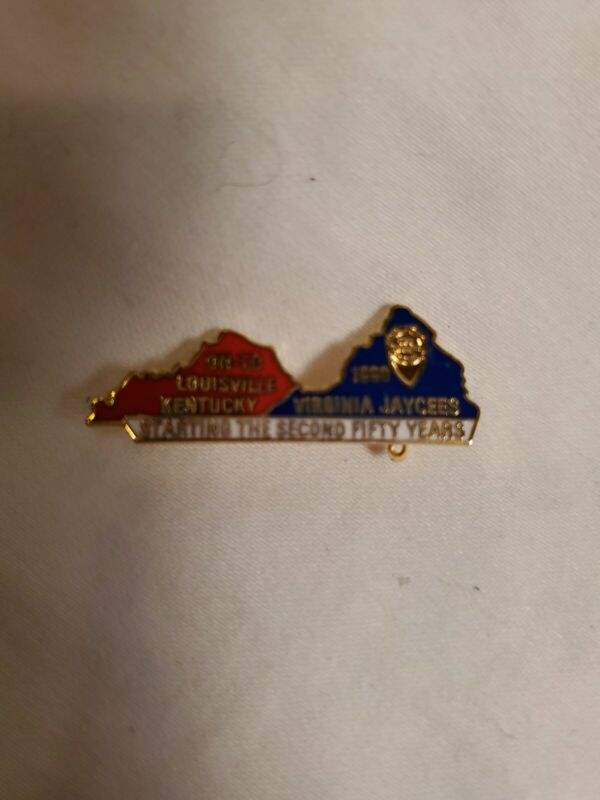 Virginia Jaycees State Pin 1990 On To Louisville Kentucky starting second 50 yrs