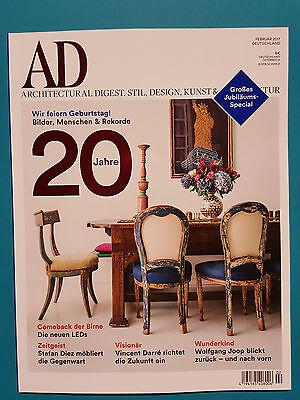 AD Architectural Digest.Stil,Desing,Kunst&Architektur Februar 2017 ungelesen 1A