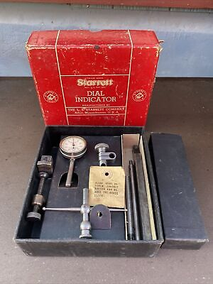Starrett Dial Test Indicator No. 196a - Complete Set In Original Packaging
