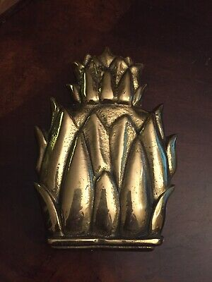 Heavy Brass Pineapple Door Knocker made in England Approx 5