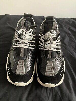 Versace Chain Reaction Black/White/Grey Size 7 EU 40