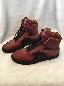 Men's size 9 red leather Fluevog sneakers