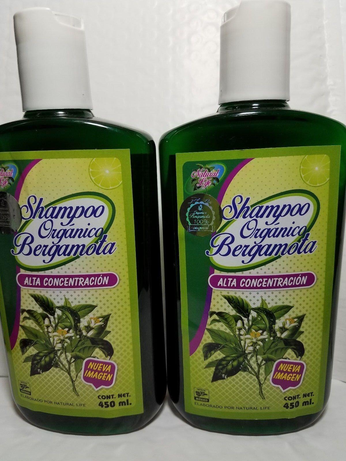 ORGANIC BERGAMOT SHAMPOO 100% NATURAL SHAMPOO DE BERGAMOTA O