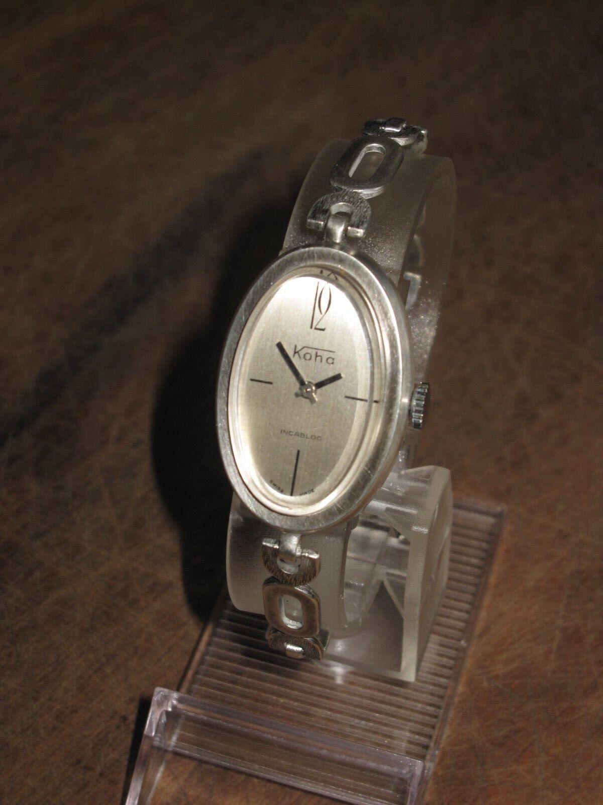 Stylische Koha Damen , 925er Silber-Uhr, Swiss made, Bestzustand, vintage, läuft