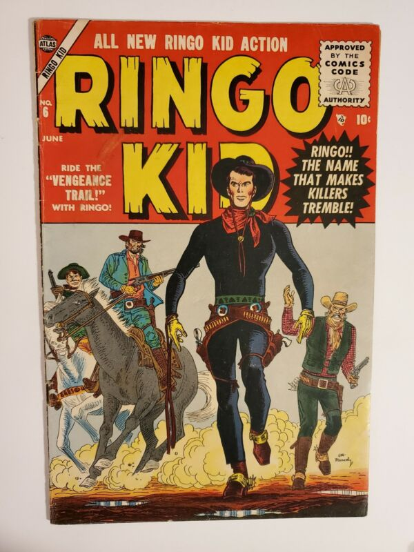 RINGO KID #6 (VG/F 5.0) 1955 GOLDEN AGE ATLAS COMICS! GREAT COVER!