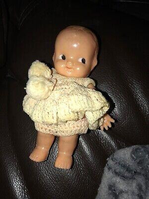 Plastic Kewpie Doll (Vintage Irwin Kewpie Doll Made In USA Hard Plastic, 6 1/2