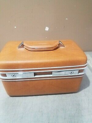 NOS VINTAGE SEARS COURIER II SAMSONITE  TRAVEL CASE WITH MIRROR & TRAY FREE SHIP