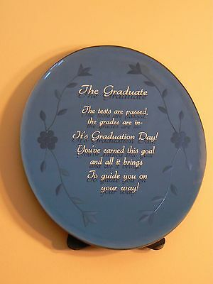 About Face Designs GRADUATE OVAL GLASS PLAQUE #123465 NEW Graduation Sentiment