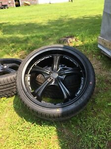 """19"""" konig wheels with brand new tires"""