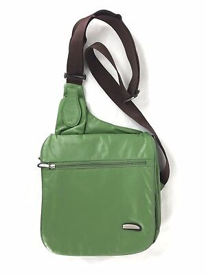 - Travelon Anti-Theft Shoulder Bag Crossbody Travel Gear Secure Safe Green Leather