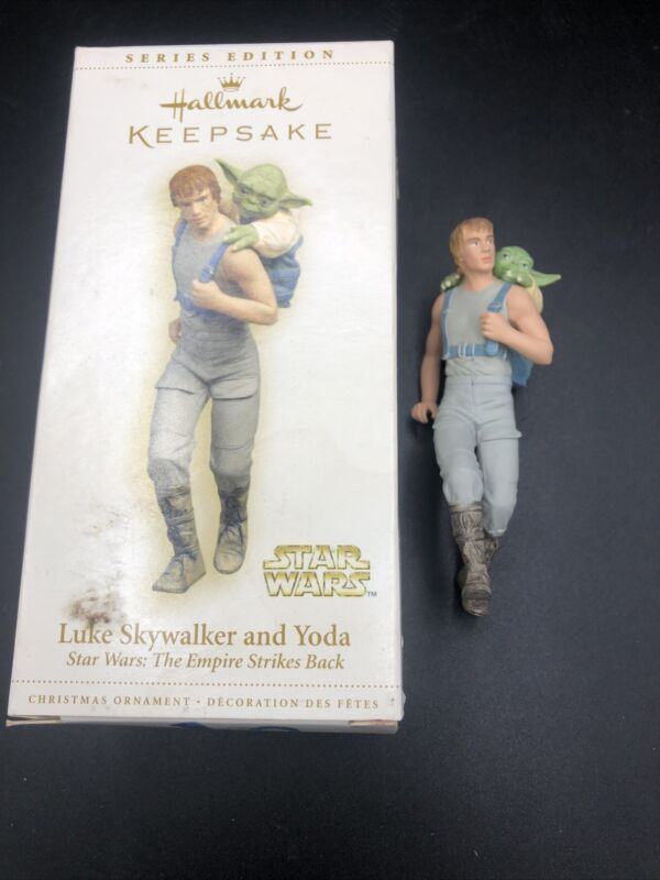 2006 Star Wars LUKE SKYWALKER & YODA Hallmark Keepsake Ornament NEW