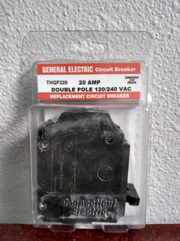 General Electric Circuit Breaker 20 Amp Double Pole 120/240 VAC THQP220