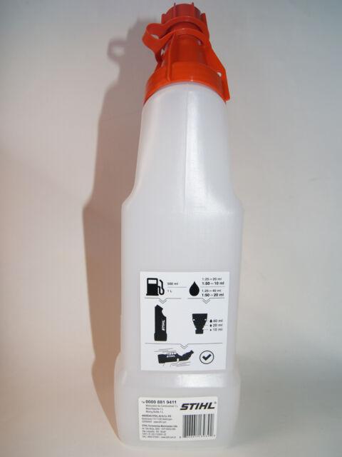 Genuine Stihl 1L Fuel Mixing Bottle / 2 Stroke 50:1 Mixing Bottle 0000 881 9411
