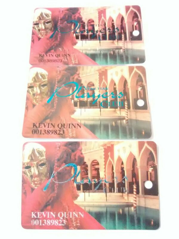 VENETIAN CASINO LAS VEGAS, NEVADA 3 DIFFERENT SLOT CARDS GREAT FOR COLLECTION!