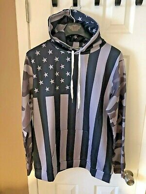 USA Flag Hoodie Camo Sleeves Pockets Unisex Mens Womans kids S M L Fast shipping