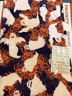🎃 Lularoe TC Halloween Ghost & Beetle Purple Leggings HTF NWT 👻](Halloween Beetle)