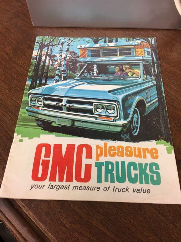 Original 1968 GMC Pleasure Trucks Camper Brochure
