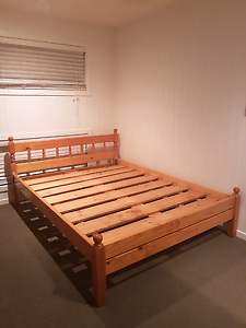 Queen Size Pine Bed Frame Newmarket Brisbane North West Preview