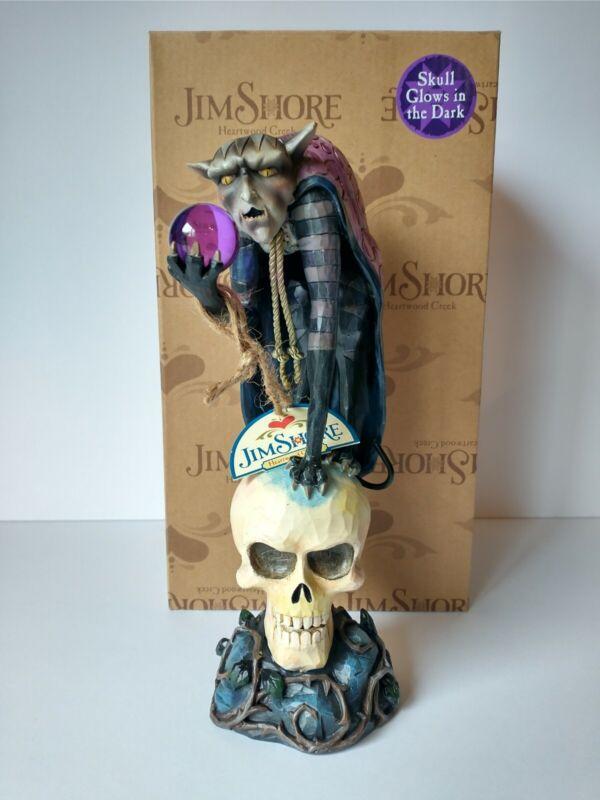 Jim Shore Demon Dark Skull Figurine 2009 Heartwood Creek Enesco Glow In Dark NEW