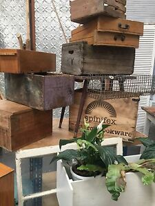 Vintage crates and old drawers Kealba Brimbank Area Preview