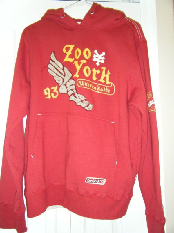 MENS ZOO YORK UNBRAKABLE ZOO YORK 93 HOODIE SIZE MEDIUM WORN TWICE