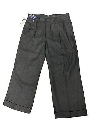 $125 NEW Polo Ralph Lauren 100% Linen Pants Pleated & Cuffed 38 X 30
