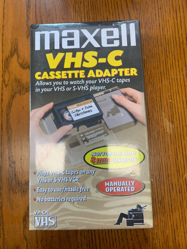 Maxell Vhs-C Cassette Adapter NEW STILL SEALED VP-CA
