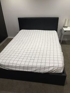 Double bed + mattress with hydraulics under-bed storage Melbourne CBD Melbourne City Preview