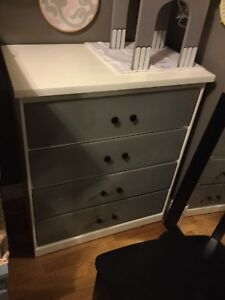 Black and white small dresser