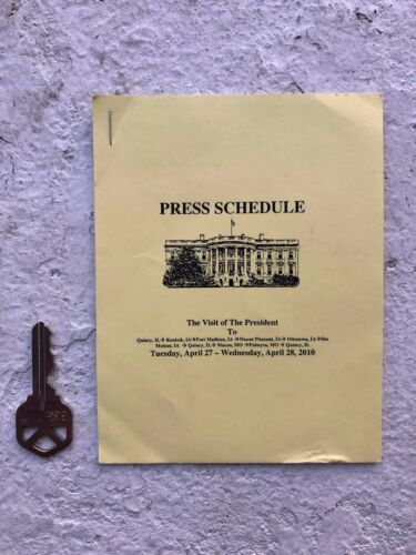 Official White House Press Corps Schedule  - President Barack Obama - Iowa