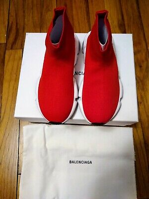 Kids Balenciaga On-Trend Stretch Fabric Sock Sneakers Red US Size 13-1( EU 31-32