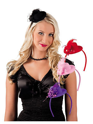Tiara Pearl mit Feder Glitzer Party Kostüm Accessoires