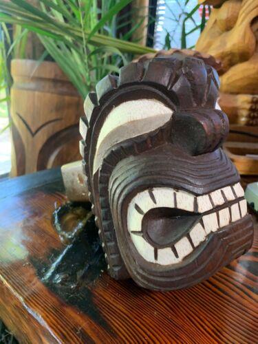 New Wooden KU Trailer Hitch Cover Tiki Mask by Smokin