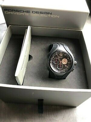 Used Genuine Porsche 911Speed 11 Chronograph Watch with Red second hand.