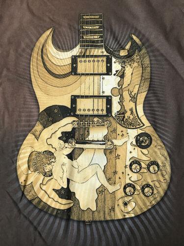 "ERIC CLAPTON 2010 NORTH AMERICA TOUR ""FOOL GUITAR"" T-SHIRT ARTIST"